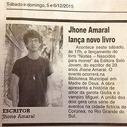 Jhone Amaral lança livro