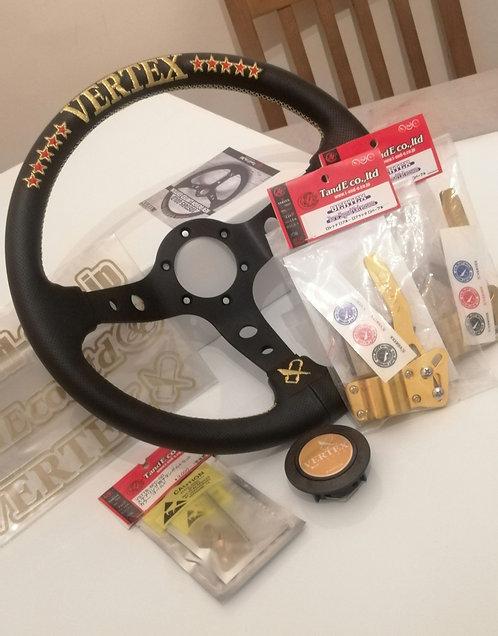 Massive vertex gold bundle. Vertex 10star gold wheel, bolts, stickers, stalk ext
