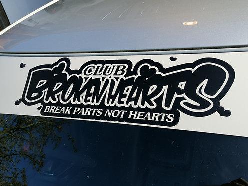 Club broken hearts sunvisor