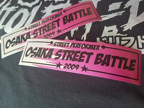 osaka street battle (glitter pink/silver)