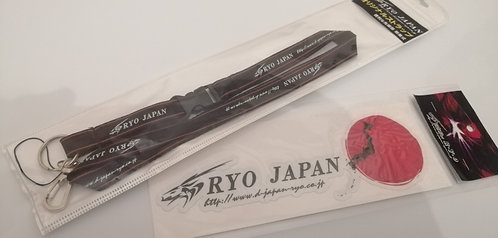 Ryo japan sticker and lanyard