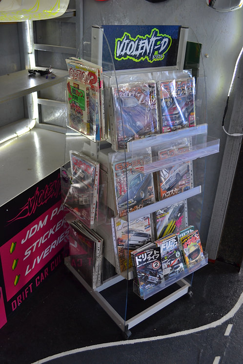 various magazines carboy, gworks, drift tengoku, option