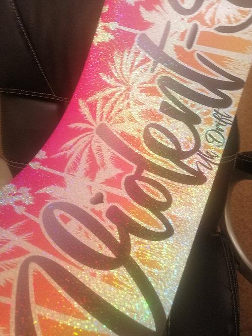 Glitter violent-d palm sunvisor