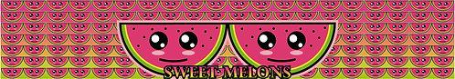 sweet melons glitter visor