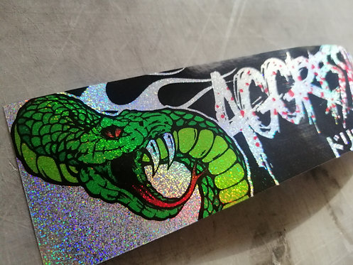 Aggressive style holographic flake