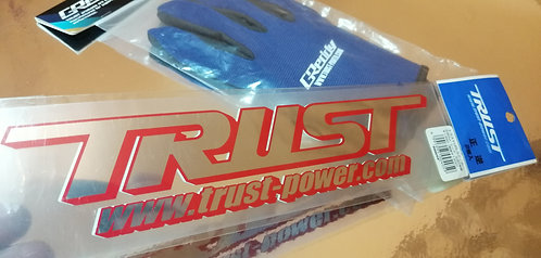 GReedy trust power gloves and trustpower sticker from japan