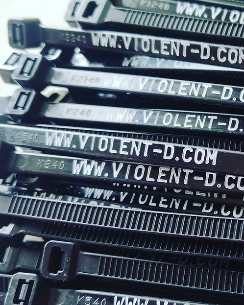 Violent-d.com black zip ties x20