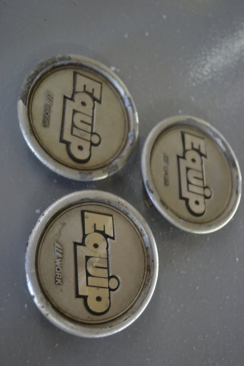x3 equip center caps (some damage pictured)