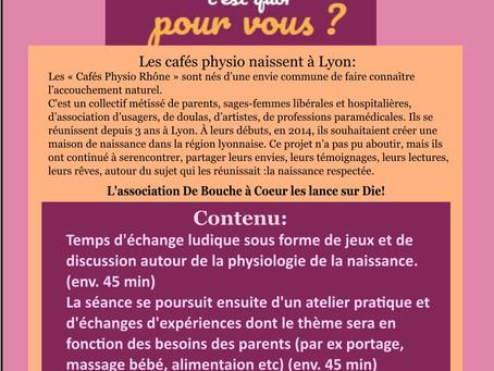 CAFÉS PHYSIOLOGIQUES - Prochaines dates
