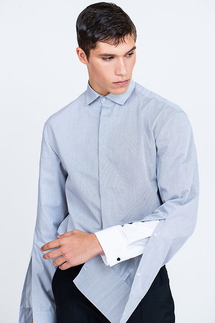 Double Sleeves Dropped Shoulder Shirt with Extended Cuff [Made To Order]
