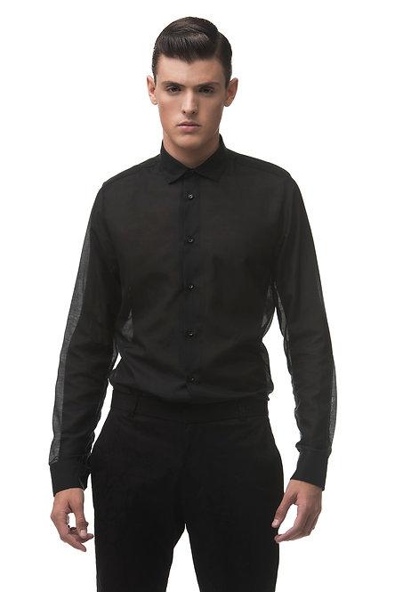 Semi Sheer Silk-Cotton Shirt