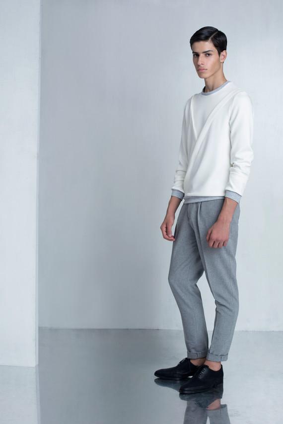 Ariel_Bassan_Minimal_Menswear_AW_LookBook_Tailored_Pleated_Trousers_Wrap_Sweatshirt