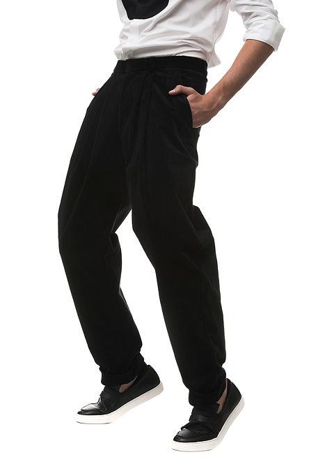 Wide Leg Pant w. Pleats