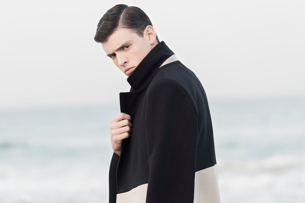 Ariel_Bassan_AW15_Campaign_Minmal_Menswear_Color_Blocked_Wool_Coat