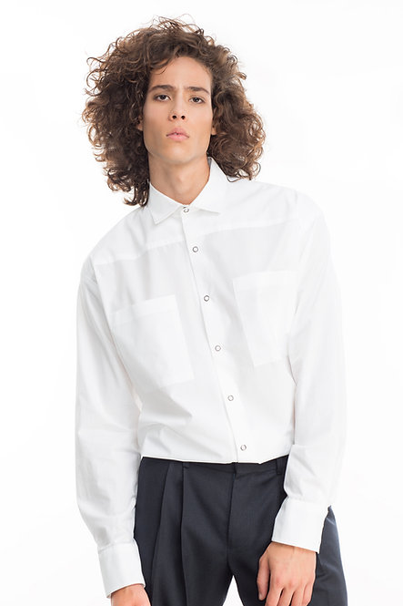 Oversized Shirt w. Two Pockets