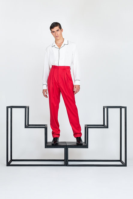 Pyjama Style Shirt [Black]