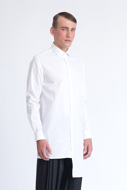 Asymmetrical Tailored Shirt