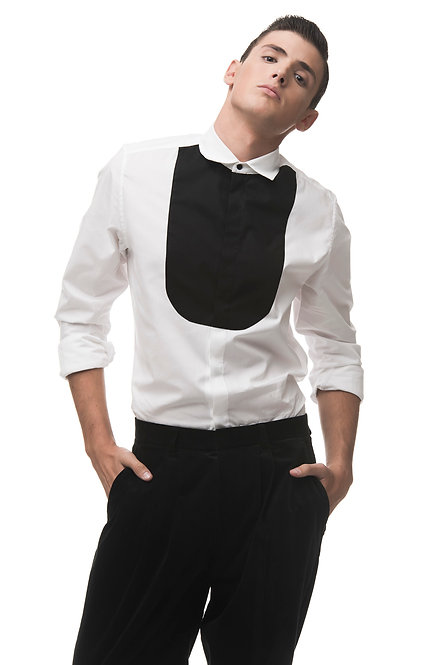 Tailored Shirt with Contrasted Bib