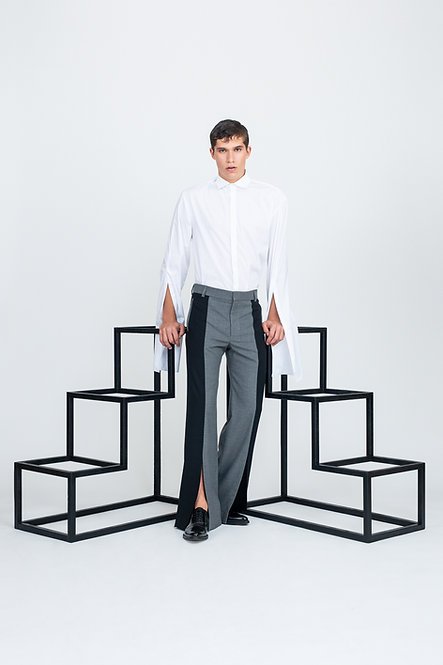 Two Tone Pants w. Slits [Made To Order]
