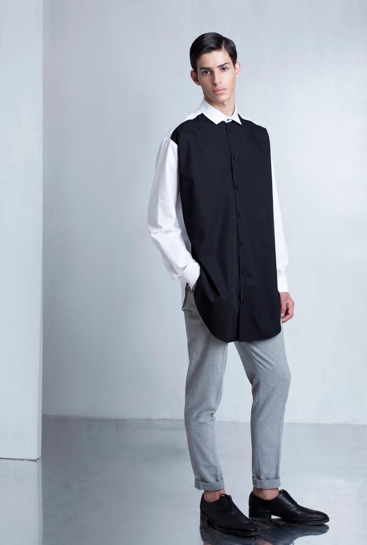 Ariel_Bassan_Minimal_Menswear_AW_LookBook_Tailored_Pleated_Trousers_Color_Blocked_Shirt