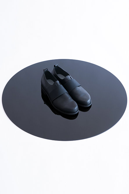 Elastic Detailed Leather Derby Shoes