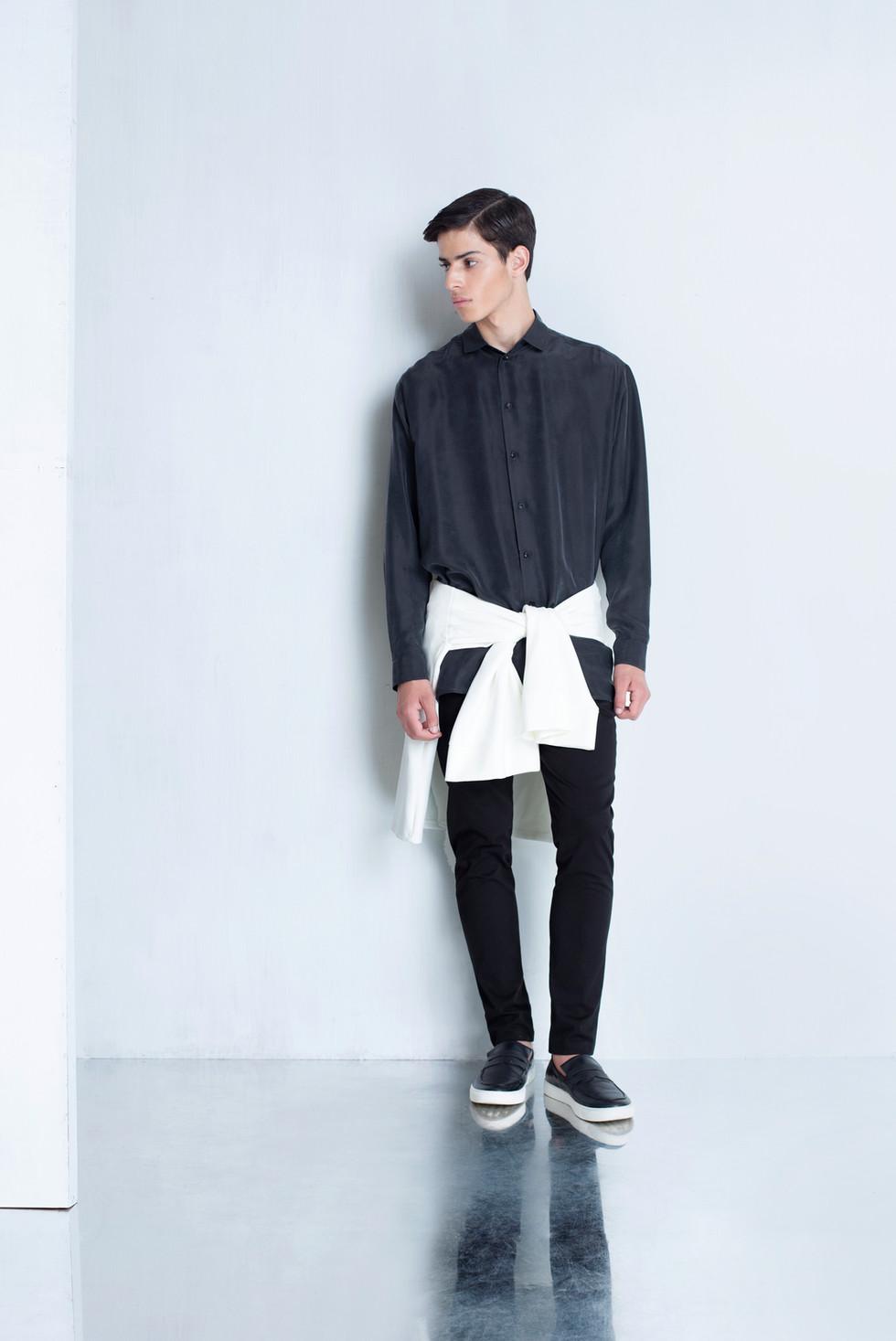 Ariel_Bassan_Minimal_Menswear_AW_LookBook_Oversized_Silk_Shirt