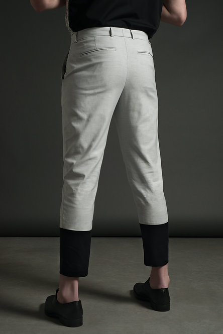 Two Tone Pant / Grey•Black