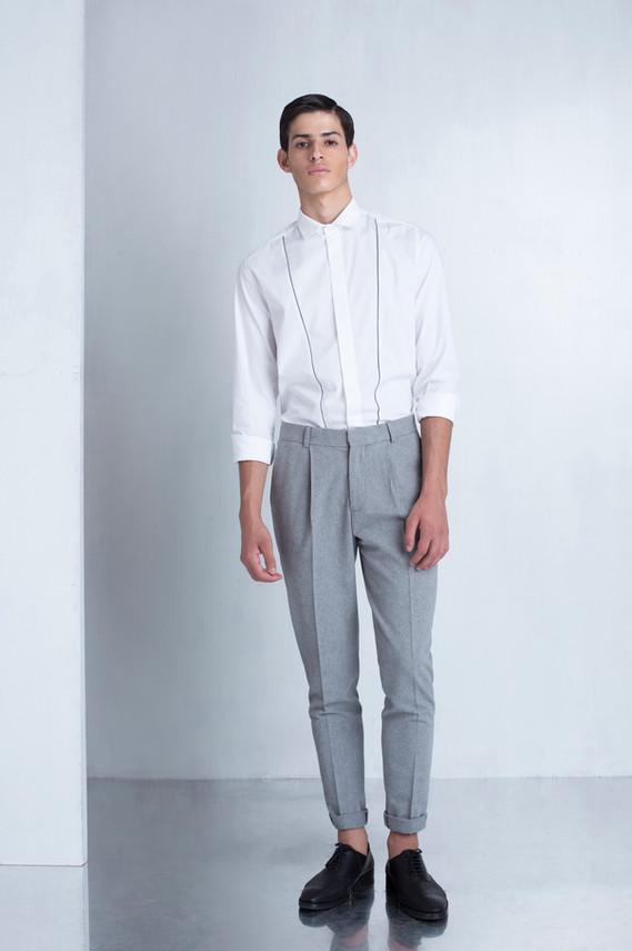 Ariel_Bassan_Minimal_Menswear_AW_LookBook_Tailored_Pleated_Trousers_White_Shirt