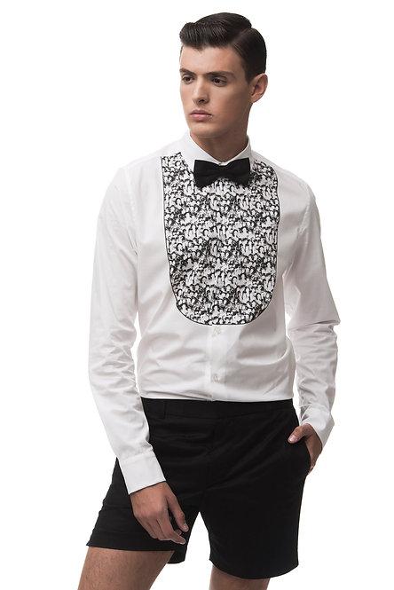 Tailored Shirt with Printed Bib