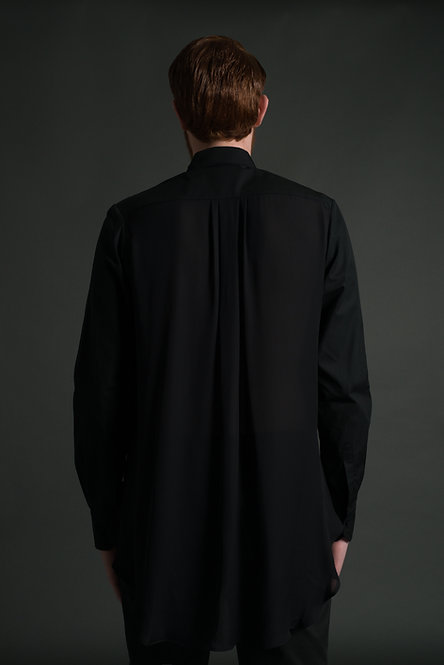 Flared Back Shirt / Silk Back