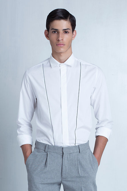 Tailored Shirt w. Piping Detail