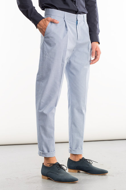 Single Front Pleat Tailored Pants