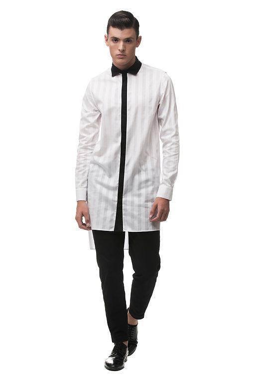 Ariel_Bassan_Minimal_Menswear_Sheer_White_Tunic_Shirt