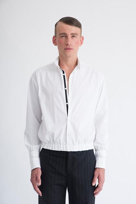 Pinstripe Shirt w. Elastic Waistband