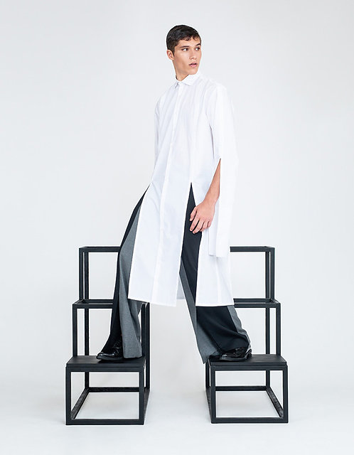 High Slits Dress-Shirt Tunic [Made To Order]