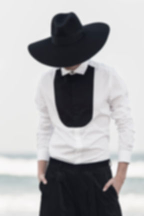 Ariel_Bassan_AW15_Campaign_Minmal_Menswear_Tailored_Bib_Shirt_Fashion_Portrait
