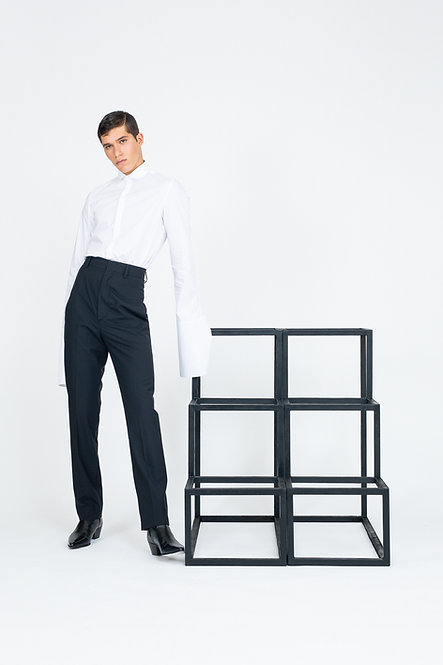 High Waisted Tailored Pants [Made To Order]
