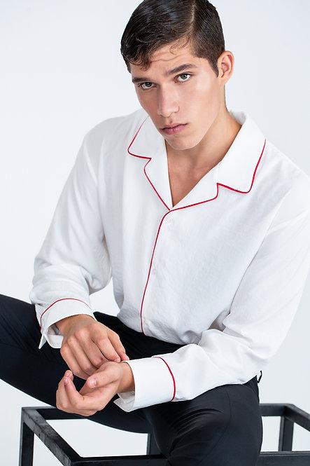 Pyjama Style Shirt [Red]