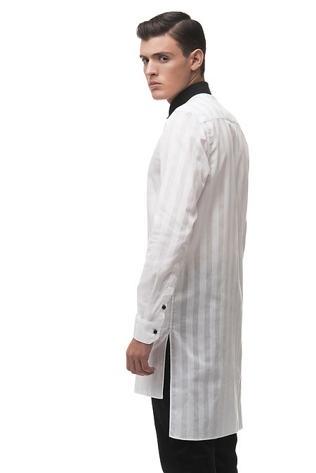 Ariel_Bassan_Minimal_Menswear_Sheer_White_Mens_Tunic_Shirt