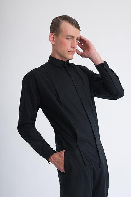 Tailored Jumpsuit w. Front Pleats