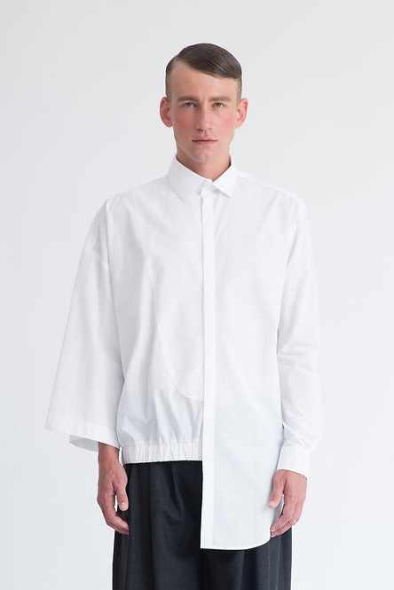 Asymmetrical Mixed Silhouettes Shirt