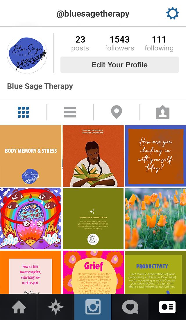 bluesage instagram