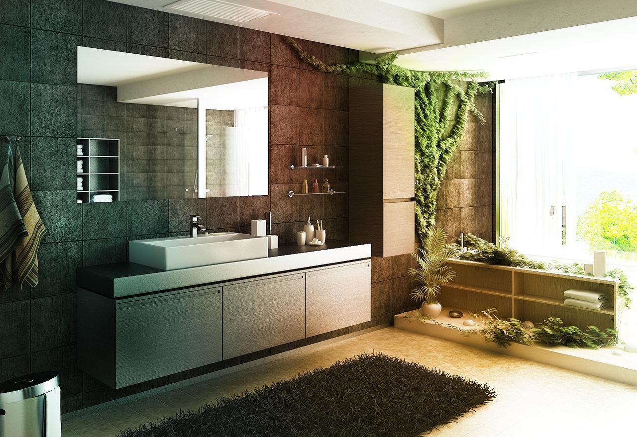 Simple-Square-Bathroom-Mirror-Design-in-Modern-Bathroom