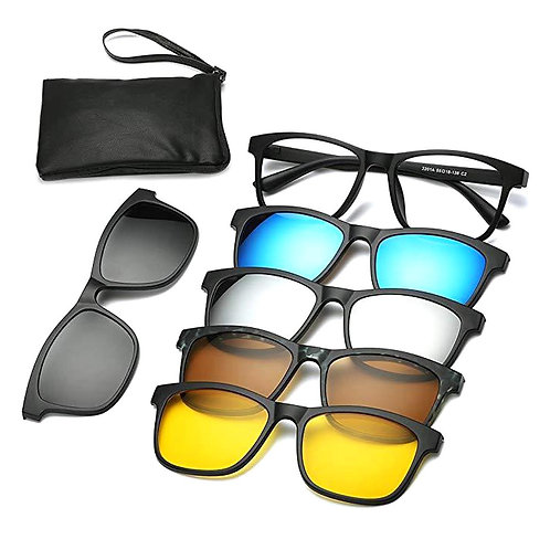 6 in 1 magnetique sunglasses