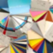 紙・素材の豊富なサンプル