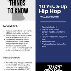 10 Yrs. & Up Hip Hop