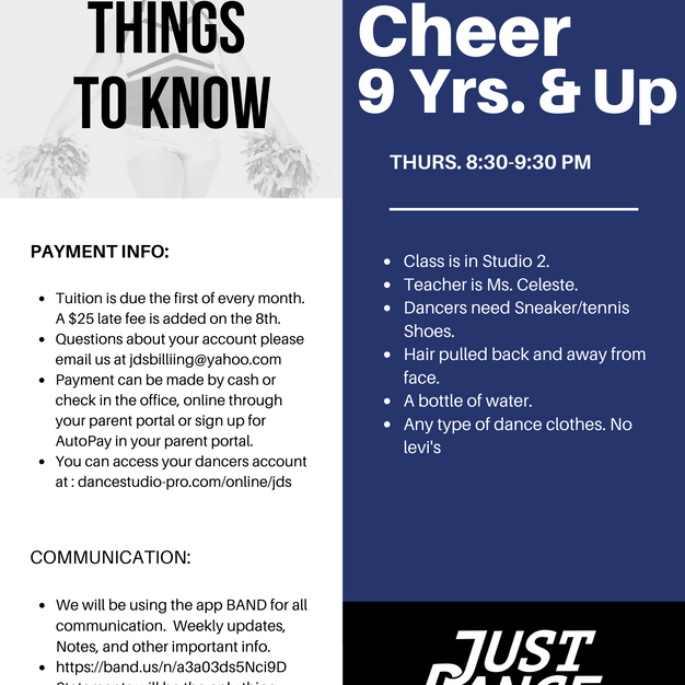 Cheer 9 Yrs. & Up