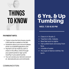6 Yrs. & Up Tumbling