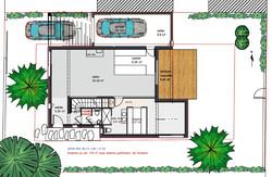 Plan Rez de Jardin Villa