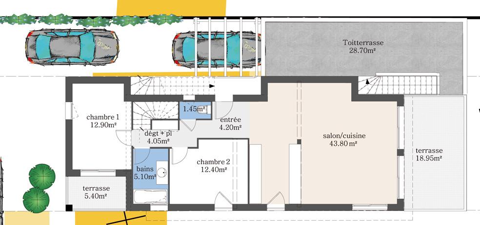 Projet 2 logements R+1